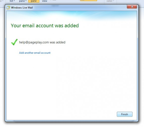 Your email account was added