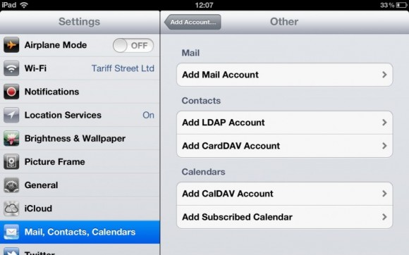 how to set up mail on ipad mini 2