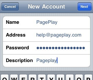 Email account details