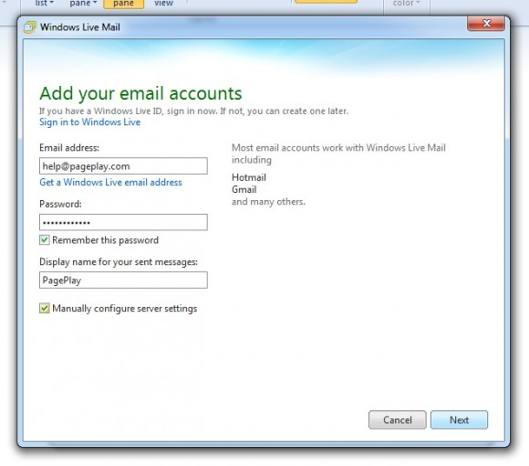 Add your email accounts